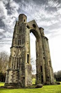 развалины аббатства, Вальсингам, Англия