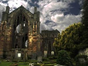 Мелроузское аббатство, Мелроуз, Шотландия