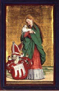 Мастер из Месскирха. Агнесса с гербом графини фон Верденберг (ок. 1531)