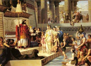«Соломон и царица Савская», картина Джованни Демина