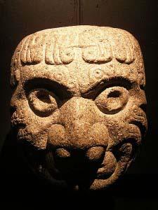 Чавинское каменное изображение головы