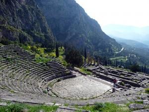 театр, Дельфы, Греция