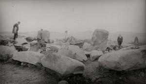 раскопки и востановительные работы каменной пирамиды