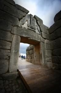 Львиные ворота, Микены, Греция