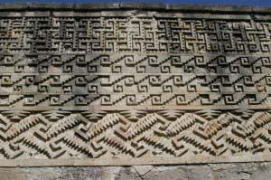 Греческий рисунок на стенах дворца в Митле