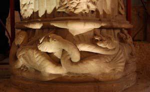 Колонна Ученика, Росслинская часовня, Росслин, Шотландия