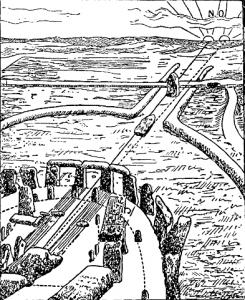 Стоунхендж в летнее солнцестояние, 1700 г.