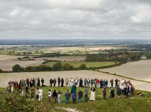 обряд рядом с Уилмингтонским великаном, Англия
